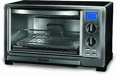 Black & Decker TO1021BC Infrared Oven with Rotisserie, Silver (Certified Refu...