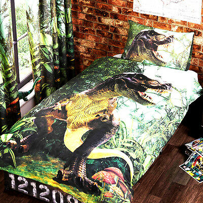 Rapport Kidz Multi T Rex Jurassic Dinosaur Duvet Set Single