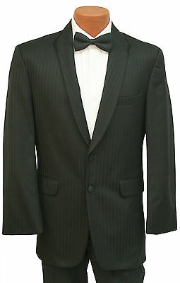 High Quality 100% Wool Black Seven Unlimited Two Button Tuxedo Jacket & Pants