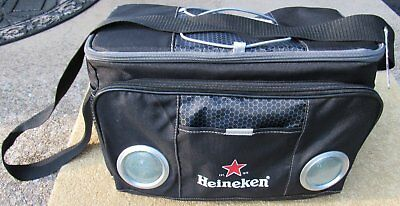 Heineken Beer Soft Small Cooler With Built In Speakers for Phone or Ipod NEW