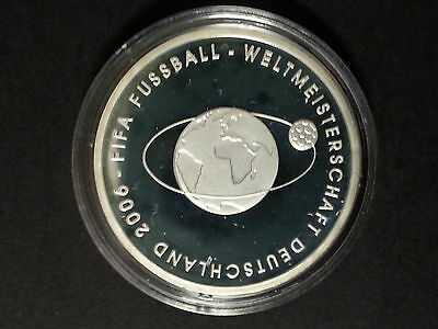 2006 FIFA World Cup Germany 10 Euro silver coin proof Commemorative 2004 Issue