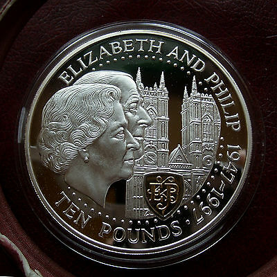 Guernsey 1997 large silver proof 10 pounds
