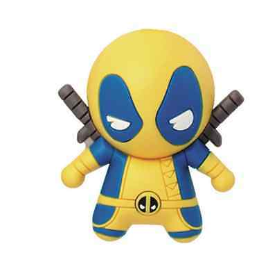 Marvel Comics 7cm 3D Deadpool Yellow Figural Keychain/ Keyring By Monogram