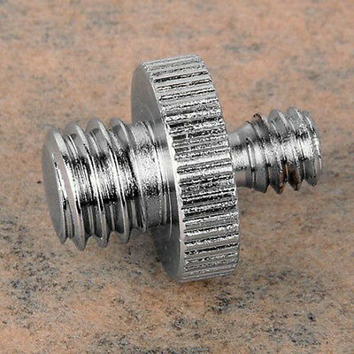 "1/4"" to 3/8"" Male Threaded Screw Adapter for Camera Tripod Stand Ballhead Pop"