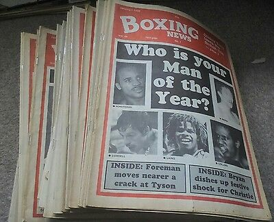 Boxing News  X  46  Issues  1988