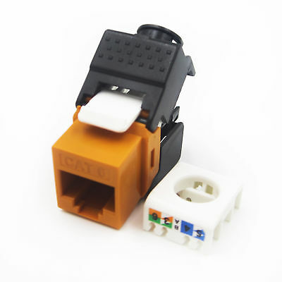 1PCS Gigabit RJ45 CAT6 Keystone Jacks Modules Tool-free Connection