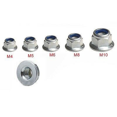 Flange Nuts A2 Stainless Steel, Flanged Insert Nylon Locking Nut M4 M5 M6 M8 M10