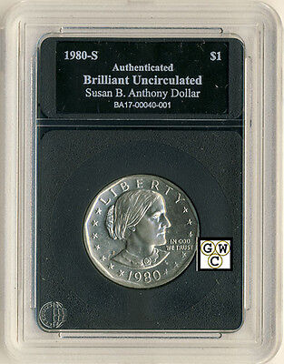 1980-S United States Susan B. Anthony Dollar -Case Marked Brilliant Uncirculated