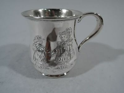 Wallace Mug - 266 - Antique Christening Baby Cup - American Sterling Silver