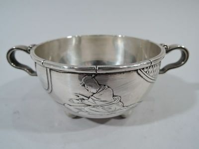 Whiting Sugar Bowl - Japonesque Aesthetic Antique - American Sterling Silver