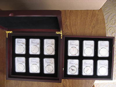 1999 - 2010 NGC certified Australia 1 oz Lunar silver coins set, rabbit - tiger
