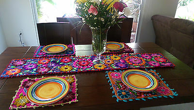 Very Cool Hand Made Embroidered Peruvian Table Runner.  Pick one of 3 Designs