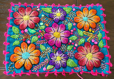 Very Cool Hand Made Embroidered Peruvian Placemats.  Pick one of 4 Designs