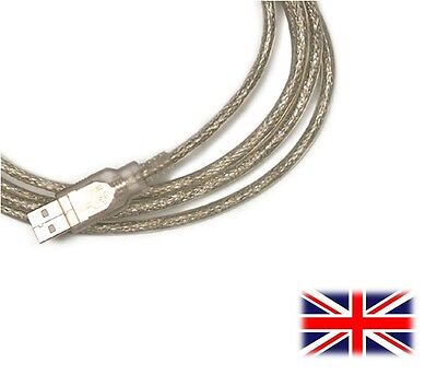 Silver 2 Meter Usb Pc Cable Lead Cord For Hercules 4780474 Dj Console Rmx