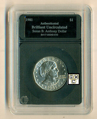 1981 United States Susan B. Anthony Dollar - Case Marked Brilliant Uncirculated