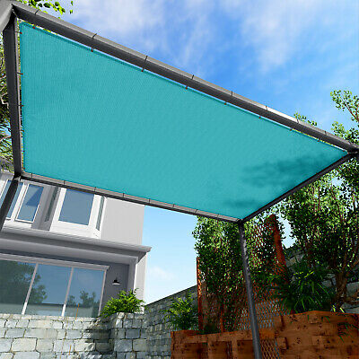 220GSM Sun Shade Sail Turquoise Straight Edge Canopy Awning Patio 6x6 10x40'FT