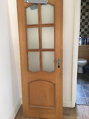 Solid wooden door picclick uk for Solid glass shower doors