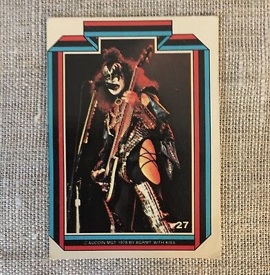 Kiss Army Gene Simmons Trading Card Vintage 1978 Aucoin Mgt. #27
