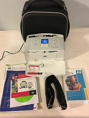 A516 HP Photosmart Compact Photo Printer with case and Paper