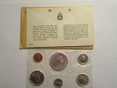 1967 Royal Canadian Mint Proof-Like 6 coin set, 80% silver - mint  envelope