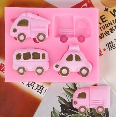 Car Silicone Icing Mould Cake Decoration Topper Sugar Paste SugarCraft DIY Kids