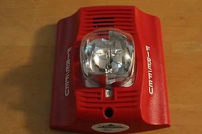 SYSTEM SENSOR P2RA RED 2 WIRE FIRE SYSTEM HORN STROBE