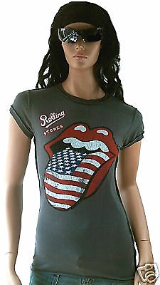 AMPLIFIED Official ROLLING STONES USA Zunge Rock Star Vintage ViP T-Shirt M 40