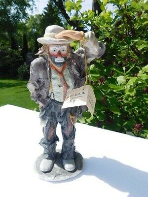 "Emmett Kelly Decorative Flambro Rare Numbered Edition ""Looking Out to See"""