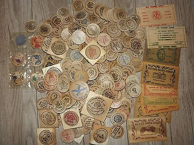 200+ Huge Lot Vtg Wooden Nickel Penny Oil Political States Advertise Confederate