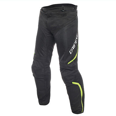 Dainese Drake Air D-Dry Black / black / Fluo Yellow Moto Trouser All Sizes