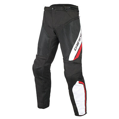 Dainese Drake Air D-Dry Black / White / Red Moto Motorcycle Trouser All Sizes