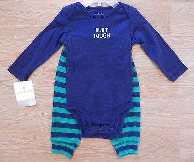 NWT Baby Boy CARTER'S Blue Green Moose 2 Piece Outfit Size 6 Months