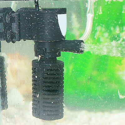 3-in-1 Mini Aquarium Internal Filter Oxygen Submersible Water Pump For Fish Tank