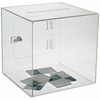 Source Business Card Holders One Medium Premium Clear Acrylic Ballot Box Box (6