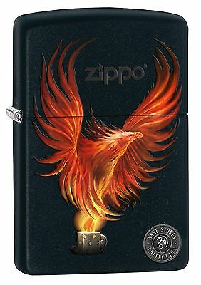 Zippo 8227, Anne Stokes-Firebird, Black Matte Finish Lighter