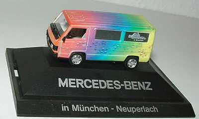 1:87 Mercedes-Benz 100D Bus The Drop Rainbow MB Munich neuperlach - Herpa