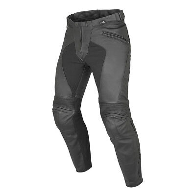 Dainese Pony C2 Black Motorcycle Motorbike Standard Leather Trouser All Sizes