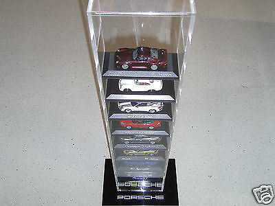 Porsche Model Car Display Case for 10 Model In Scale 1:43 - NEW