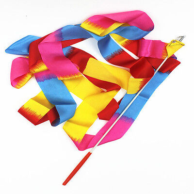 New Dancing Ribbon Art Gymnastics Ballet Wand Competition Streamer Twirling Rod