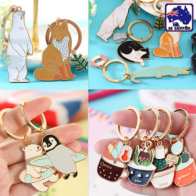 2x Plants Animal Cartoon Keyring Pendant Charm Keychain Delightful Decor SRIN794