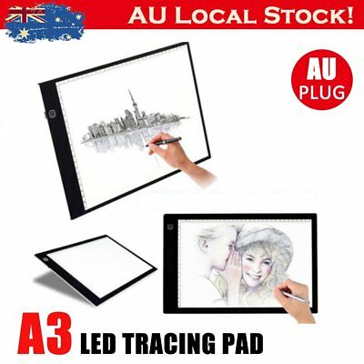 A3 LED Light Box Tracing Board Art Design Stencil Drawing Pad Thin Copy AU STOCK
