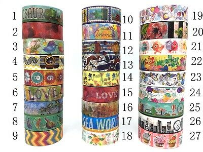 Washi Tape Adhesive 15mmX10m Crafts Masking Paper Decorative Scrapbooking Sticky
