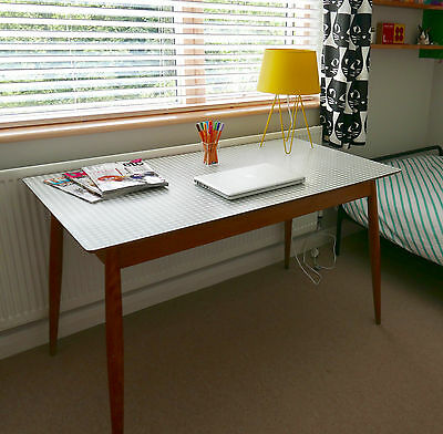 Vintage Retro Kandya Table Checked Top - Dining or Desk