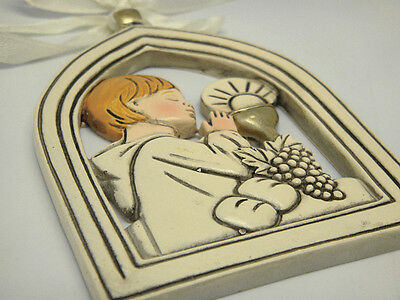 Poly Hanging Plaque with First Holy Communion Design for Boy