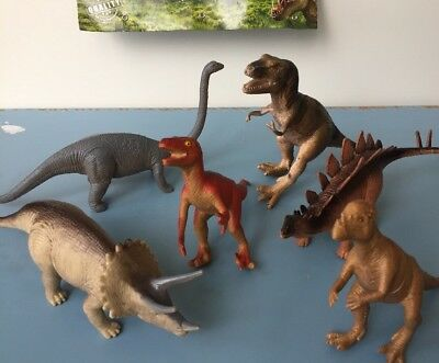 6 x BIG DINOSAURS TOY MODEL ACTION FIGURES ANIMALS TOYS New Free Postage