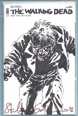 The Walking Dead #150 Signed And Remarked By Stefano Gaudiano Df Coa Vf/nm