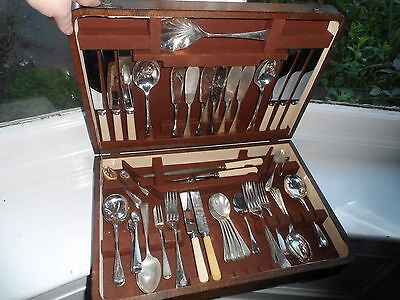 54 Piece B & J Sippel Sheffield Canteen Of Silver Plated Canteen Of Cutlery