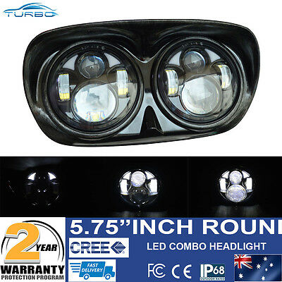 1 set Dual LED Headlight Assembly for Harley-Davidson Road Glide Hi/Lo Beam 80W