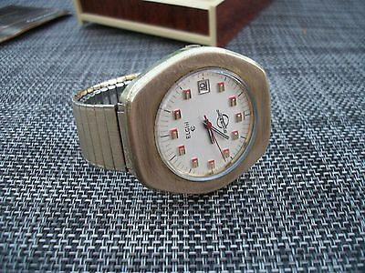 Vintage Men's Elgin Swissonic Watch...dress Gear ...very Nice With Box / Papers