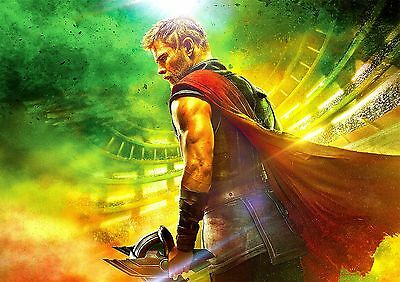 Thor Poster Ragnarok 2017 New Marvel Movie Hemsworth, FREE P+P, CHOOSE YOUR SIZE
